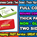 100 ROUND CORNERS Business Cards Full Color + Two Sides + FREE SHIP = MATTE