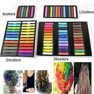 multi color temporary non toxic hair dye diy set chalk hair tint pastel kit b52u ebay
