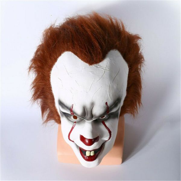 Halloween Cosplay Scary Mask Costume Movie Stephen King's IT Clown Pennywise  1