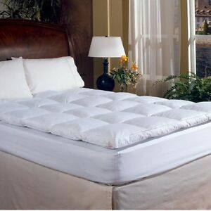 Image Is Loading Deluxe 2 Inch Down Amp Feather Bed Mattress