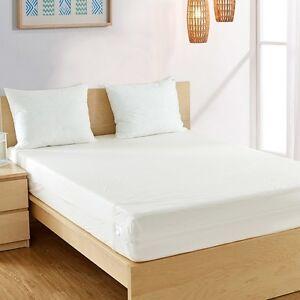 Image Is Loading Fully Encased Waterproof Anti Bed Bug Mattress Protector