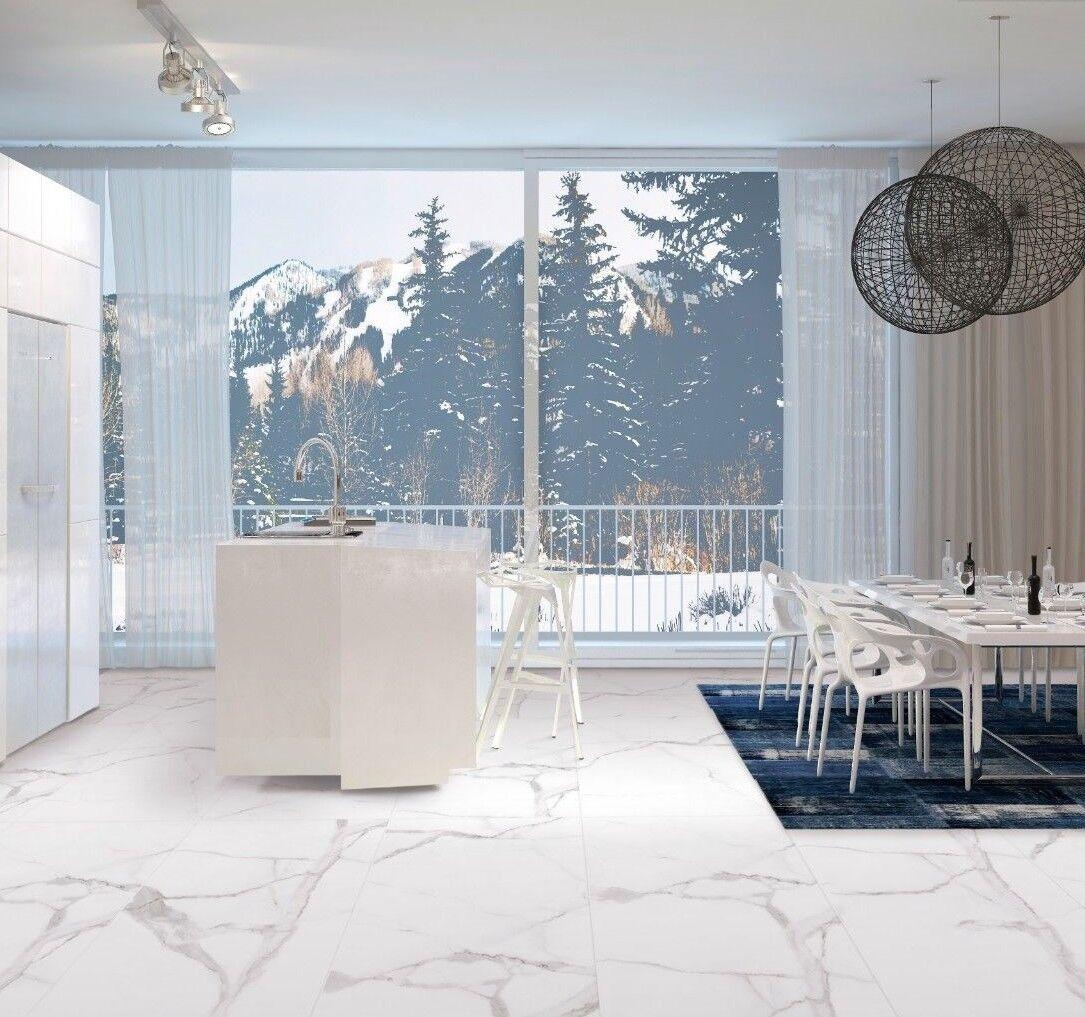 alsac carrara white marble effect matt