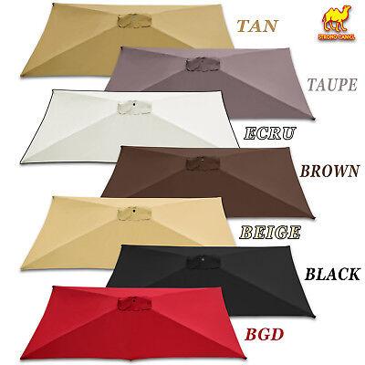 10 x6 5 rectangle parasol solar patio umbrella replacement canopy top cover ebay