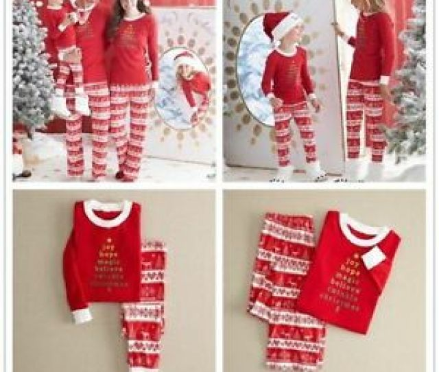 Image Is Loading Family Matching Christmas Pajamas Set Womens Baby Kids