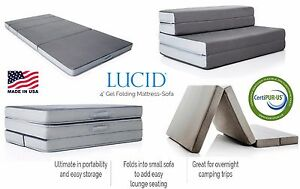 Image Is Loading Folding Foam Mattress Portable Futon Guest Bed Rv