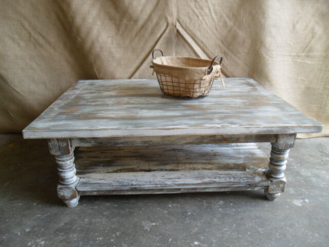 reclaimed wood coffee table shabby chic custom made vintage rustic reclaimed
