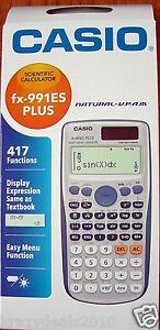 Details About Casio Fx 991es Plus Scientific Calculator Fx991es Fx 991 Es 417 Functions New