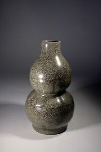 Chinese Celadon Ge Ware Crackle Glazed Vase Molded Lappets