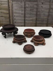 Chinese Antique Hardwood Bases/ Stands 6X