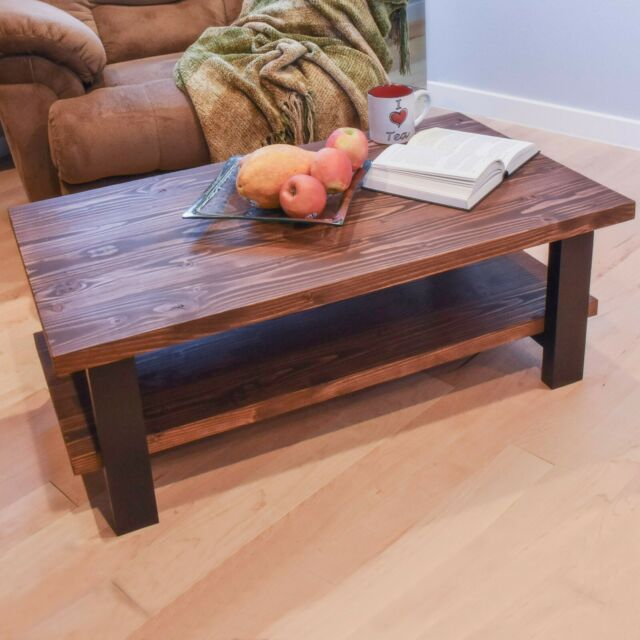e mark handmade modern farmhouse coffee table solid wood made in usa