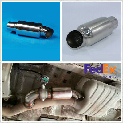 car exhaust tip muffler filter noise 2 5 to 2 5 chrome stainless steel us ship ebay