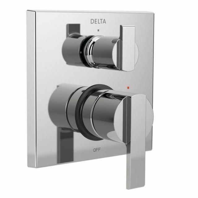 delta faucet t24867 ara angular modern monitor 14 series valve trim with chrome