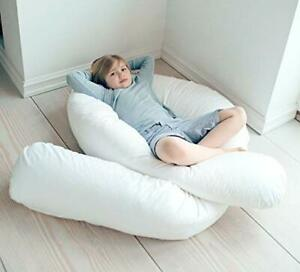 details about extra fill 9ft u shaped duck feather down nursing back neck body pillow only