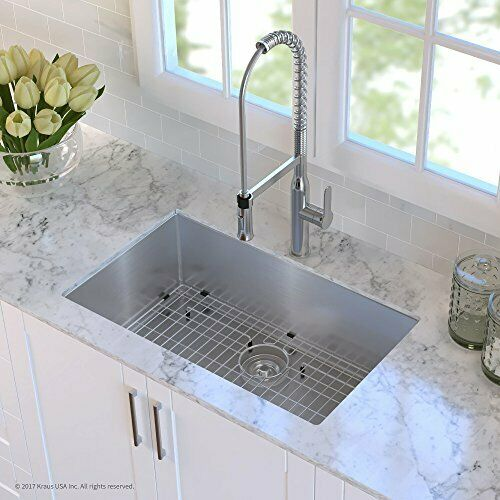 kraus stainless steel bottom grid with protective anti scratch bumpers for sink