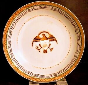 19th Century (Jiaqing Era) Chinese Export American Market 'Bald Eagle' Dish