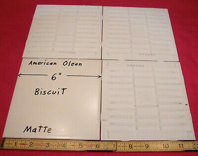 4 pieces 6 x 6 ceramic tile matte biscuit by american olean new stock ebay