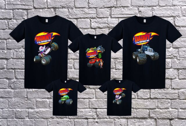 Blaze And The Monster Machines Family Birthday Shirt Personalized Tshirt Black Ebay