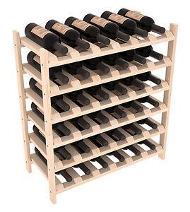 details about 36 bottle stacking wood wine rack shelf in ponderosa pine easy diy wine storage