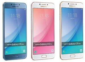 "Samsung Galaxy C5 Pro SM-C5010 64GB (FACTORY UNLOCKED) 5.2"" HD - Blue Gold Pink"