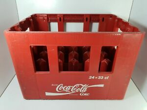 details sur superbe caisse panier a bouteilles vintage coca cola 24x33cl en plastique 90s