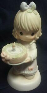 1997 Precious Moments Happy Birthday Dear Jesus Girl W Birthday Cake Ebay