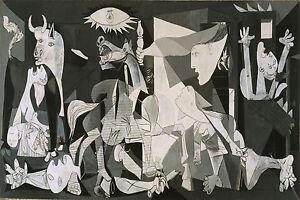 Guernica Pablo Picasso Spanish Civil War Canvas Box Or