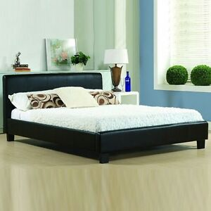 Image Is Loading Bed Frame Double King Size Leather Beds