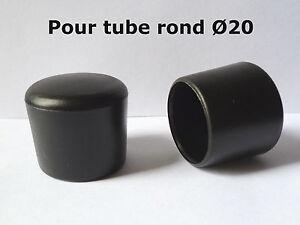 details sur 2 bouchons embouts enveloppant pour tube rond pied de chaise pvc noir o 20 mm