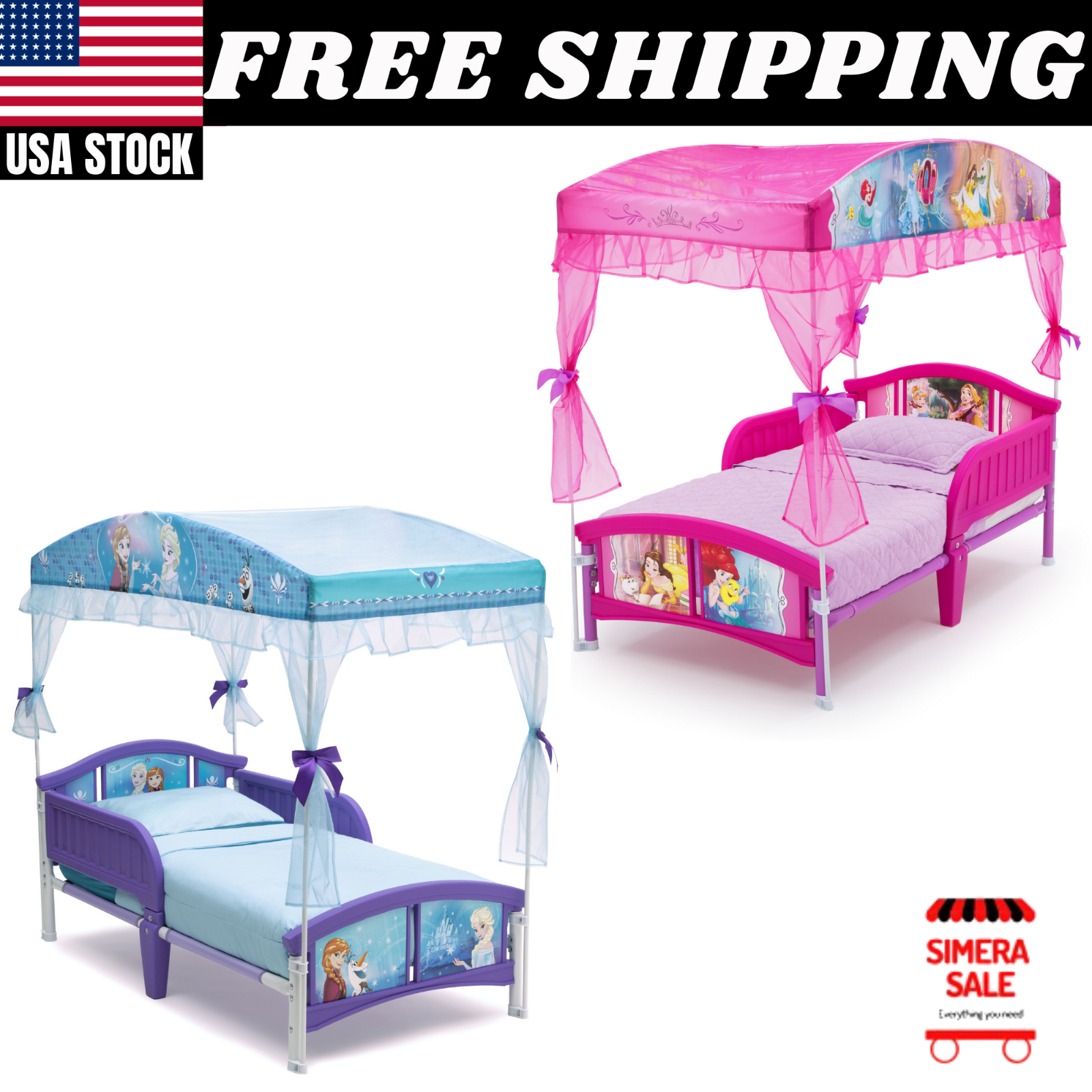 Factory Delta Children S Products Princess Canopy Toddler Bed Mattress For Sale Online Ebay