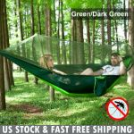 Portable Single Person Mosquito Net Hammock Hanging Bed For Travel Camping Pink For Sale Online Ebay