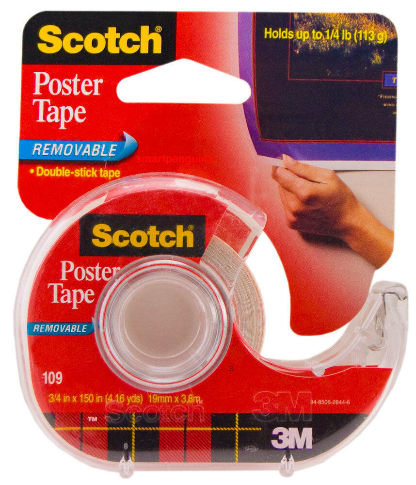 3m scotch poster tape double sided removable double stick tape 109