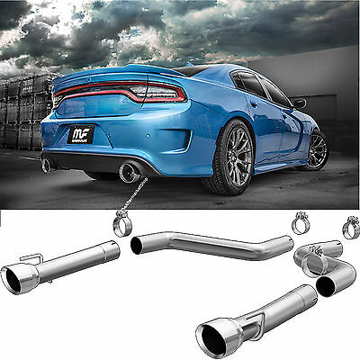magnaflow 3 axle back dual exhaust system 2015 2019 dodge charger 6 2l 6 4l v8 ebay