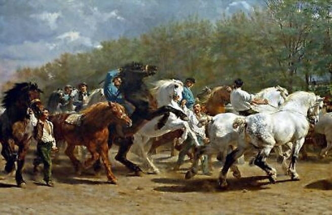 "The Horse Fair"" by Rosa Bonheur. Highest Quality Made in U.S.A. Pets Art  Prints 