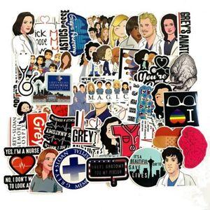 50pcs TV Show Greys Anatomy Waterproof Stickers Kids Toy ...