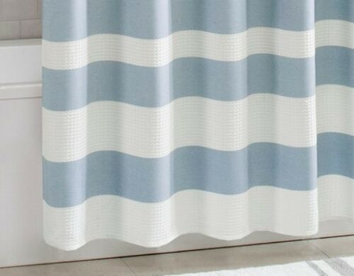 stripe 5 colors blue gray taupe coral aqua waffle weave 72x72 shower curtain bath shower bathtub accessories