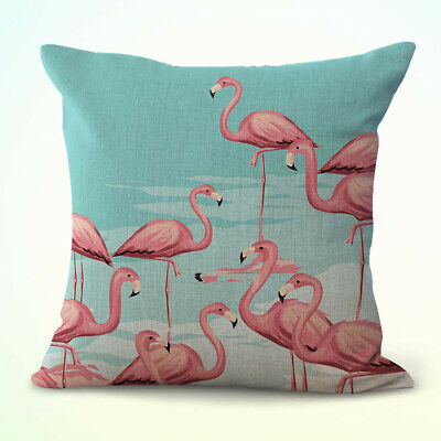 pink flamingo cushion cover decorative pillow case and throws ebay