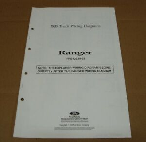 1993 Ford Ranger pickup truck wiring diagram SHEET service manual | eBay