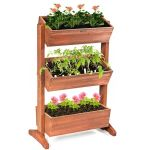Expandable Tall 3 Tiers Rectangle Dovetail Patio Deck Raised Garden Bed For Sale Online Ebay