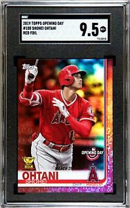 2019 Topps Opening Day #100 Shohei Ohtani Red Foil Rookie ...