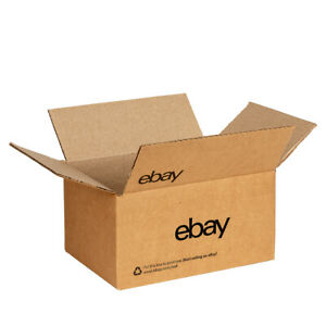 "NEW EDITION eBay-Branded Boxes With Black Color Logo 6"" x 4"" x 4"""