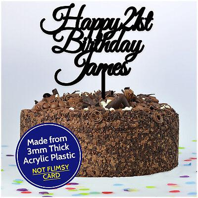 21st Twenty One Personalised Happy Birthday Cake Topper Any Name Age Decoration Ebay