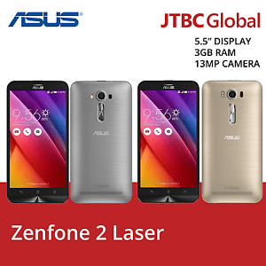 New ASUS Zenfone 2 Laser 5.5 Inch Dual Sim ZE550KL 32GB 4G 13MP Factory Unlocked
