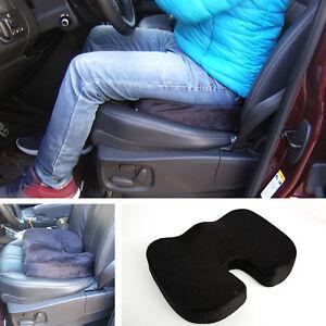 details about black memory foam car seat cushion driver back pain sciatica relief u sha