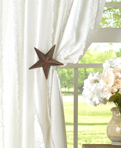 star country curtain tie back set of 2 farmhouse rustic metal decorative indoor home garden window treatments hardware