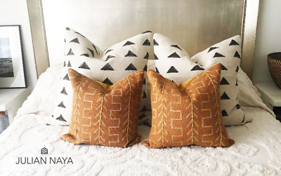 authentic rust mudcloth pillow covertribal 18x18 mud cloth ebay