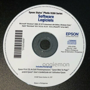 Setup Cd Rom For Epson Stylus Photo R280 Series Software For Windows And Mac Os Ebay