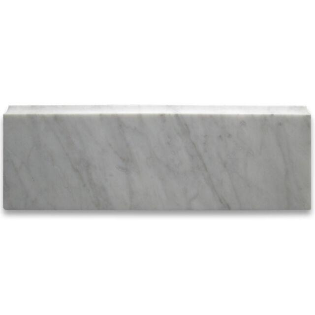 carrara white italian carrera marble baseboard trim molding 4 x 12 honed