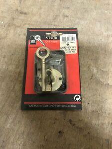 details sur ancienne serrure pour meuble facon paris 50mm axe 25 gauche