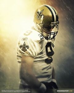 details about drew brees poster multiple sizes nfl football 02a