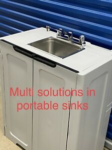 details about portable sink handwash self contained hot and cold water unit station salon spa